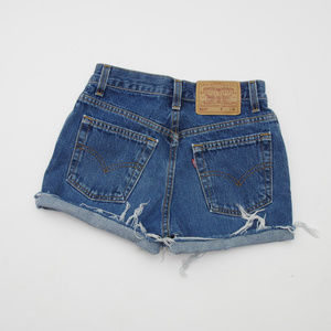 Vintage Levi's Reworked 517 Mom Jean Shorts High